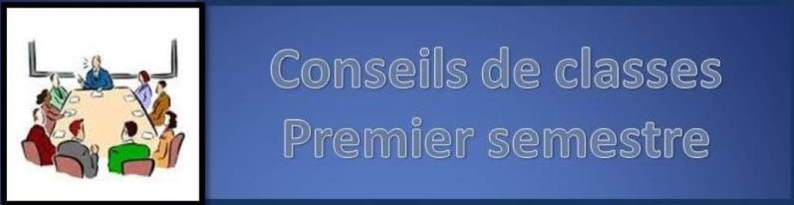 Conseils de classes SECOND SEMESTRE